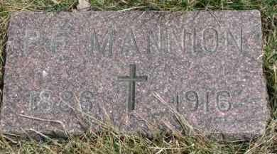 MANNION, P.E. - Dixon County, Nebraska | P.E. MANNION - Nebraska Gravestone Photos