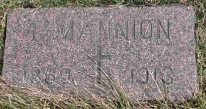 MANNION, T. - Dixon County, Nebraska | T. MANNION - Nebraska Gravestone Photos