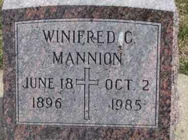MANNION, WINIFRED C. - Dixon County, Nebraska   WINIFRED C. MANNION - Nebraska Gravestone Photos