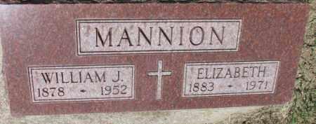 MANNION, ELIZABETH - Dixon County, Nebraska | ELIZABETH MANNION - Nebraska Gravestone Photos