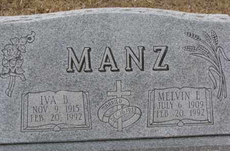 MANZ, IVA B. - Dixon County, Nebraska | IVA B. MANZ - Nebraska Gravestone Photos
