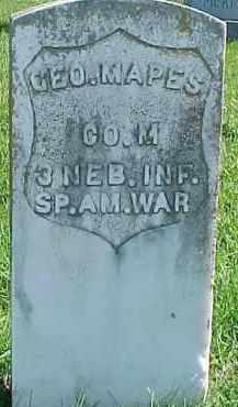 MAPES, GEORGE - Dixon County, Nebraska | GEORGE MAPES - Nebraska Gravestone Photos