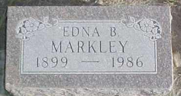 MARKLEY, EDNA B. - Dixon County, Nebraska | EDNA B. MARKLEY - Nebraska Gravestone Photos