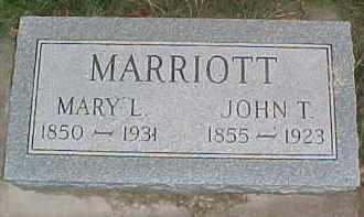 MARRIOTT, JOHN T. - Dixon County, Nebraska | JOHN T. MARRIOTT - Nebraska Gravestone Photos