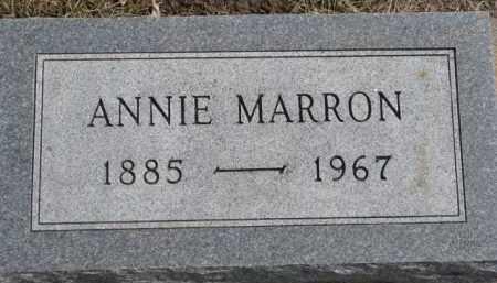 MARRON, ANNIE - Dixon County, Nebraska | ANNIE MARRON - Nebraska Gravestone Photos