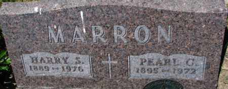 MARRON, HARRY S. - Dixon County, Nebraska | HARRY S. MARRON - Nebraska Gravestone Photos