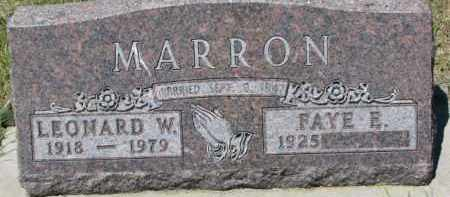 MARRON, FAYE E. - Dixon County, Nebraska | FAYE E. MARRON - Nebraska Gravestone Photos
