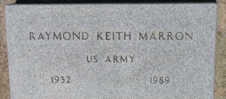 MARRON, RAYMOND KEITH - Dixon County, Nebraska | RAYMOND KEITH MARRON - Nebraska Gravestone Photos