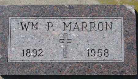 MARRON, WM. P. - Dixon County, Nebraska | WM. P. MARRON - Nebraska Gravestone Photos