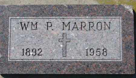 MARRON, WM. P. - Dixon County, Nebraska | WM. P. MARRON - Nebraska Gravestone Photos