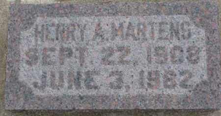 MARTENS, HENRY A. - Dixon County, Nebraska | HENRY A. MARTENS - Nebraska Gravestone Photos