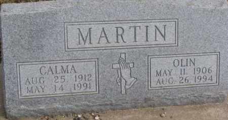 MARTIN, OLIN - Dixon County, Nebraska | OLIN MARTIN - Nebraska Gravestone Photos