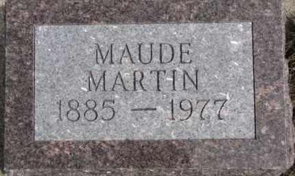 MARTIN, MAUDE - Dixon County, Nebraska | MAUDE MARTIN - Nebraska Gravestone Photos