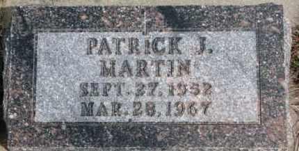 MARTIN, PATRICK J. - Dixon County, Nebraska   PATRICK J. MARTIN - Nebraska Gravestone Photos
