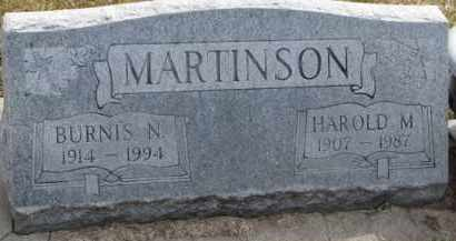 MARTINSON, BURNIS N. - Dixon County, Nebraska | BURNIS N. MARTINSON - Nebraska Gravestone Photos