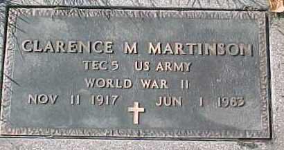 MARTINSON, CLARENCE M (WW II MARKER) - Dixon County, Nebraska | CLARENCE M (WW II MARKER) MARTINSON - Nebraska Gravestone Photos