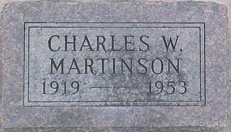 MARTINSON, CHARLES W. - Dixon County, Nebraska | CHARLES W. MARTINSON - Nebraska Gravestone Photos