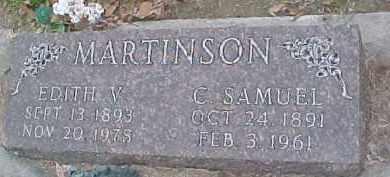 MARTINSON, EDITH V. - Dixon County, Nebraska | EDITH V. MARTINSON - Nebraska Gravestone Photos
