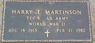 MARTINSON, HARRY E. - Dixon County, Nebraska | HARRY E. MARTINSON - Nebraska Gravestone Photos