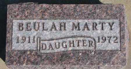 MARTY, BEULAH - Dixon County, Nebraska   BEULAH MARTY - Nebraska Gravestone Photos