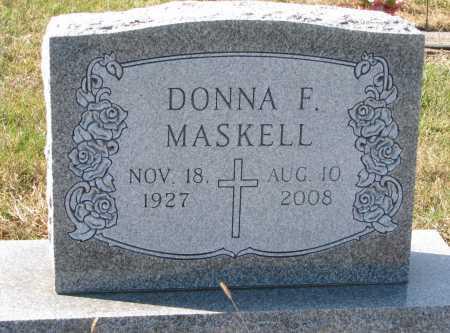 MASKELL, DONNA F. - Dixon County, Nebraska | DONNA F. MASKELL - Nebraska Gravestone Photos