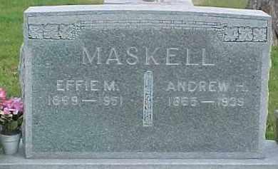 MASKELL, ANDREW H. - Dixon County, Nebraska | ANDREW H. MASKELL - Nebraska Gravestone Photos