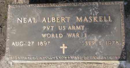 MASKELL, NEAL ALBERT (WW I MARKER) - Dixon County, Nebraska | NEAL ALBERT (WW I MARKER) MASKELL - Nebraska Gravestone Photos