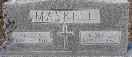 MASKELL, NEAL A. - Dixon County, Nebraska | NEAL A. MASKELL - Nebraska Gravestone Photos