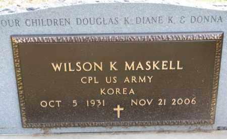 MASKELL, WILSON K. (MILITARY MARKER) - Dixon County, Nebraska   WILSON K. (MILITARY MARKER) MASKELL - Nebraska Gravestone Photos