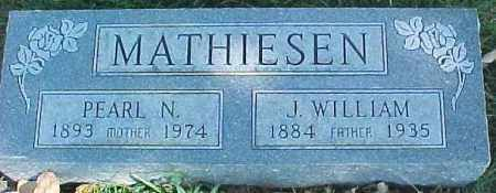 MATHIESEN, J. WILLIAM - Dixon County, Nebraska | J. WILLIAM MATHIESEN - Nebraska Gravestone Photos