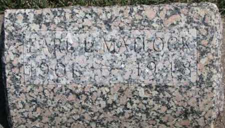 MATLOCK, EARL L. - Dixon County, Nebraska | EARL L. MATLOCK - Nebraska Gravestone Photos