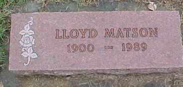 MATSON, LLOYD - Dixon County, Nebraska | LLOYD MATSON - Nebraska Gravestone Photos