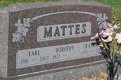 MATTES, DOROTHY - Dixon County, Nebraska   DOROTHY MATTES - Nebraska Gravestone Photos