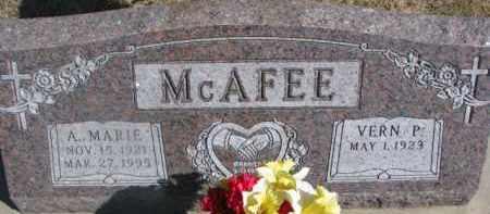 MCAFEE, A. MARIE - Dixon County, Nebraska | A. MARIE MCAFEE - Nebraska Gravestone Photos