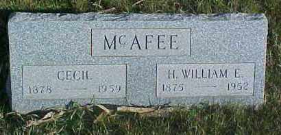 MCAFEE, H.WILLIAM E. - Dixon County, Nebraska | H.WILLIAM E. MCAFEE - Nebraska Gravestone Photos