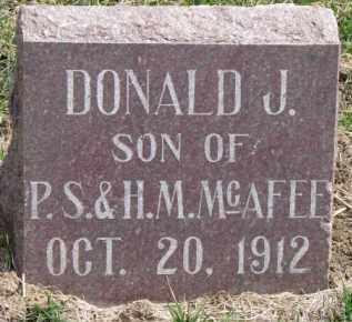 MCAFEE, DONALD J. - Dixon County, Nebraska | DONALD J. MCAFEE - Nebraska Gravestone Photos