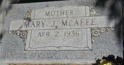 MCAFEE, MARY J. - Dixon County, Nebraska | MARY J. MCAFEE - Nebraska Gravestone Photos