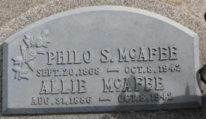 MCAFEE, PHILO S. - Dixon County, Nebraska   PHILO S. MCAFEE - Nebraska Gravestone Photos