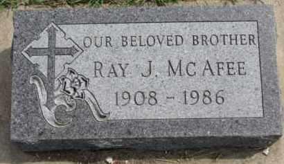 MCAFEE, RAY J. - Dixon County, Nebraska   RAY J. MCAFEE - Nebraska Gravestone Photos