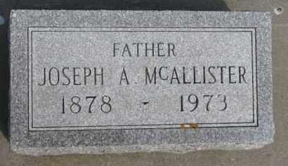 MCALLISTER, JOSEPH A. - Dixon County, Nebraska | JOSEPH A. MCALLISTER - Nebraska Gravestone Photos