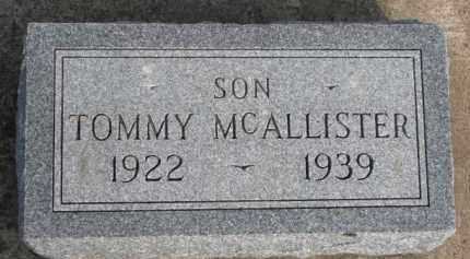 MCALLISTER, TOMMY - Dixon County, Nebraska | TOMMY MCALLISTER - Nebraska Gravestone Photos