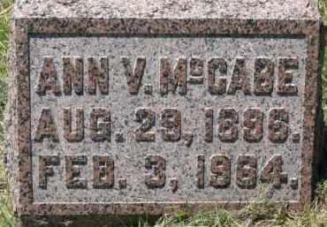 MCCABE, ANN V. - Dixon County, Nebraska | ANN V. MCCABE - Nebraska Gravestone Photos