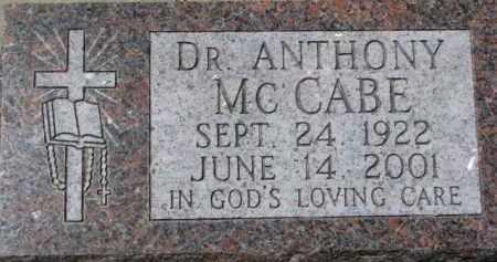 MCCABE, ANTHONY (DR.) - Dixon County, Nebraska   ANTHONY (DR.) MCCABE - Nebraska Gravestone Photos