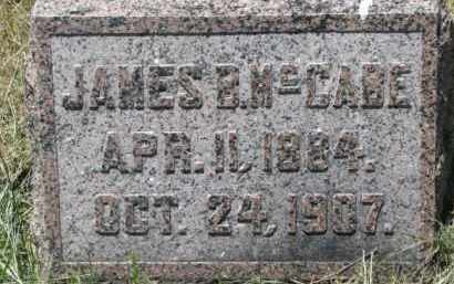 MCCABE, JAMES B. - Dixon County, Nebraska | JAMES B. MCCABE - Nebraska Gravestone Photos