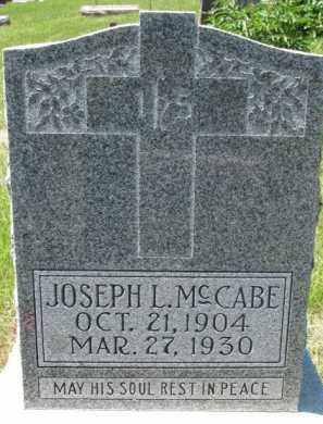 MCCABE, JOSEPH L. - Dixon County, Nebraska | JOSEPH L. MCCABE - Nebraska Gravestone Photos