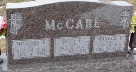 MCCABE, MICHAEL R. - Dixon County, Nebraska | MICHAEL R. MCCABE - Nebraska Gravestone Photos