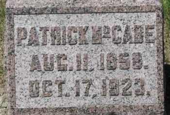 MCCABE, PATRICK - Dixon County, Nebraska   PATRICK MCCABE - Nebraska Gravestone Photos