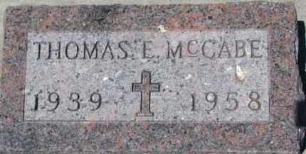MCCABE, THOMAS E. - Dixon County, Nebraska | THOMAS E. MCCABE - Nebraska Gravestone Photos