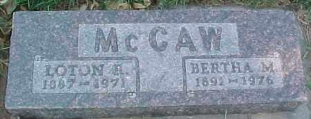 MCCAW, BERTHA M. - Dixon County, Nebraska | BERTHA M. MCCAW - Nebraska Gravestone Photos