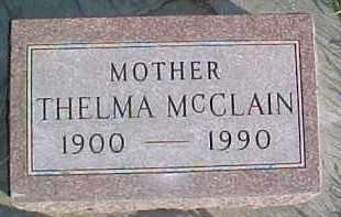 MCCLAIN, THELMA - Dixon County, Nebraska | THELMA MCCLAIN - Nebraska Gravestone Photos